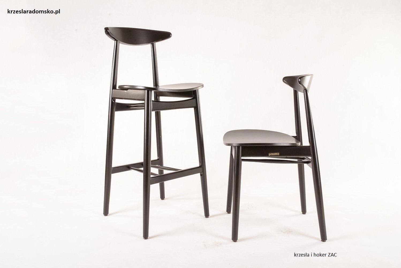 Krzesło i hoker gięty nowoczesny