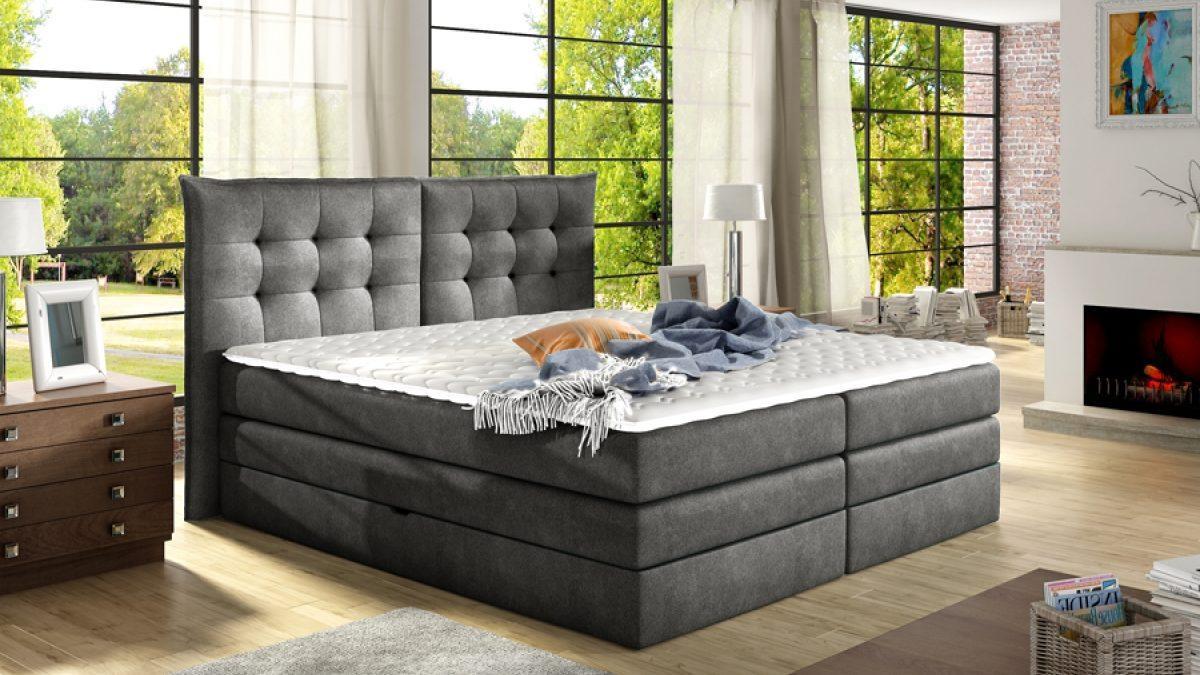 Łóżka kontynentalne Boxspring – czyli królewski komfort w domowej sypialni