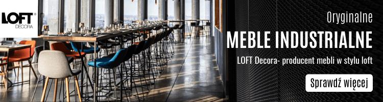 Industrialna kuchnia - jadalnia industrialna z LOFT Decora