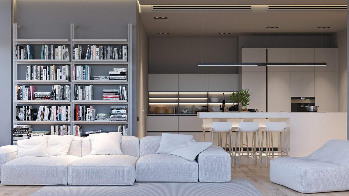 Nowoczesne wnętrza w stylu minimalistycznym